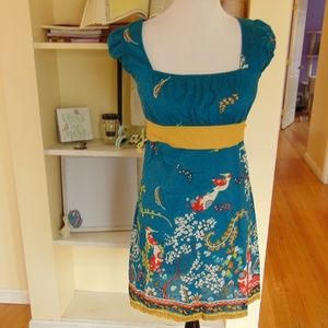*288 NWOT Forever 21 Bird Print Mini Dress Size: S